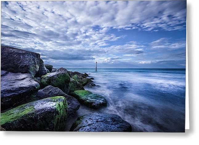 Pacific Ocean Bay Greeting Cards - Eternal Ocean  Greeting Card by Ian Hufton