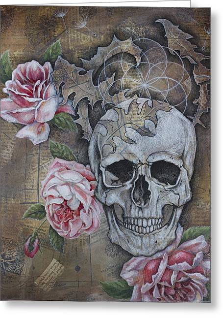 Eternal Life Mixed Media Greeting Cards - Eternal Greeting Card by Sheri Howe