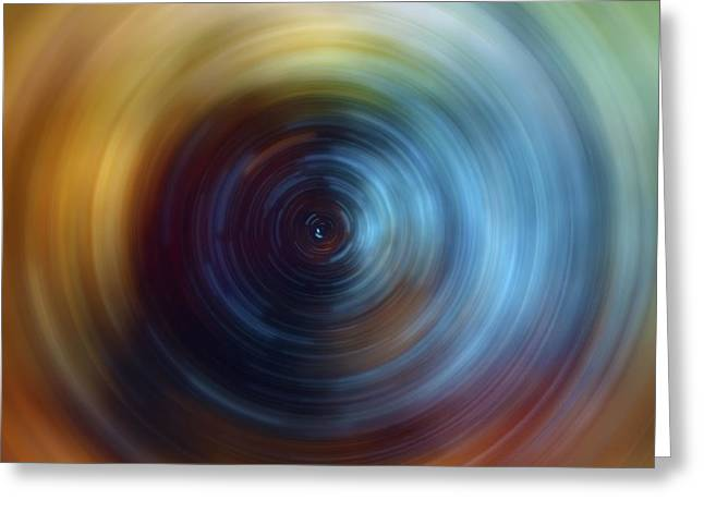 Tye Greeting Cards - Eternal Spin Art Greeting Card by The  Vault - Jennifer Rondinelli Reilly