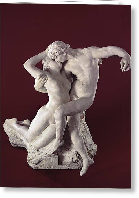 Lust Greeting Cards - Eternal Springtime, 1884 Marble Greeting Card by Auguste Rodin