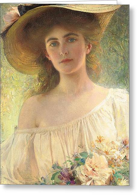 Young Albert Greeting Cards - Eternal Sunshine Greeting Card by Albert Lynch