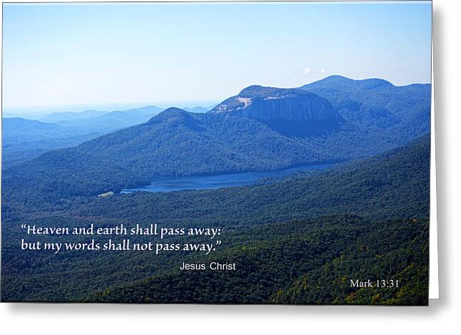Bible Verse Canvas Art Prints Greeting Cards - Eternal Truths Greeting Card by Larry Bishop