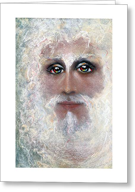 Thomas Pastels Greeting Cards - ETERNAL Pastel Eikons of Christ Greeting Card by Vicki Thomas