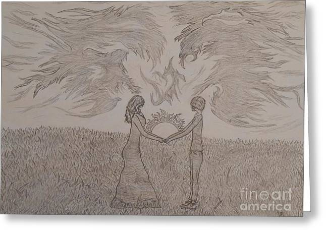 Thommy Greeting Cards - Eternally Torn Greeting Card by Thommy McCorkle