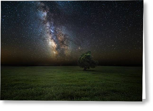 Milky Way Photographs Greeting Cards - Eternity Greeting Card by Aaron J Groen