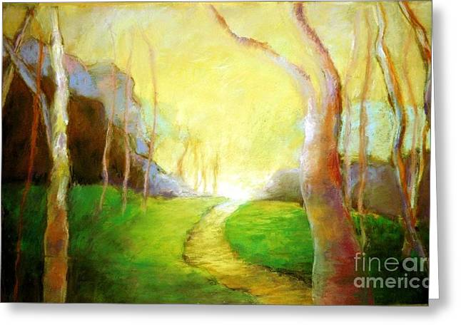 Road Trip Pastels Greeting Cards - Eternity Greeting Card by Dorothy Okray