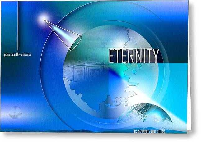 Extraterrestrial Greeting Cards - Eternity Greeting Card by Franziskus Pfleghart