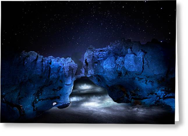 Beach At Night Greeting Cards - Eternity Greeting Card by Mark Andrew Thomas