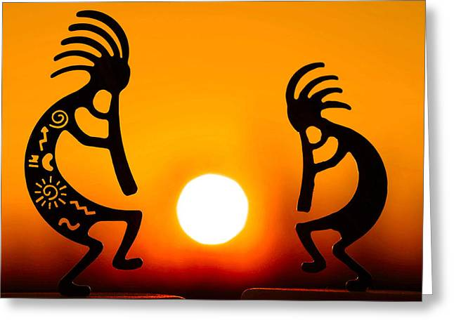 Warmth Greeting Cards - Eternitys Sunrise Greeting Card by Mitch Cat