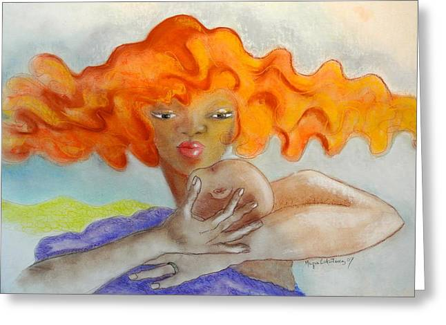 Puerto Rico Pastels Greeting Cards - Eterno amor Greeting Card by Mayra  Martinez