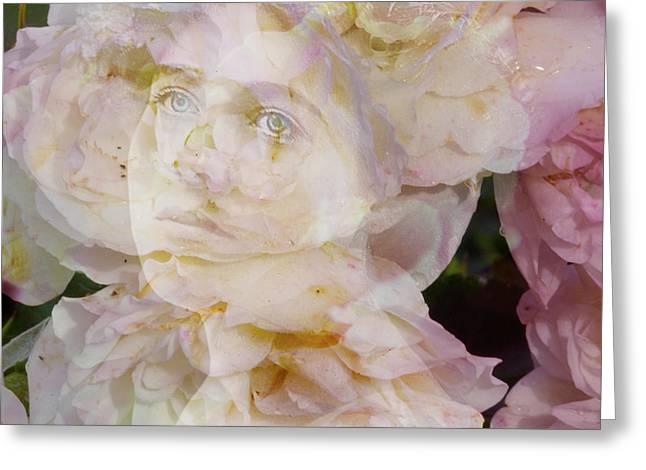 Edwardian Digital Greeting Cards - Ethel Rose Greeting Card by Judy Wood