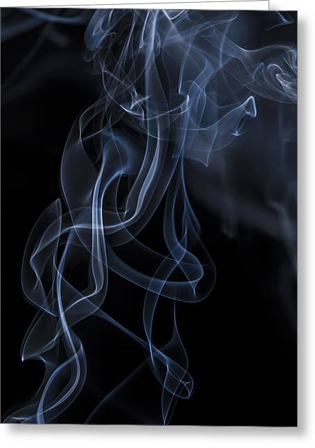 Incense Smoke Greeting Cards - Ether Bound Greeting Card by Andrew Pacheco
