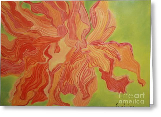 Abstract Nature Greeting Cards - Etheral Floater Greeting Card by Coelina Jones