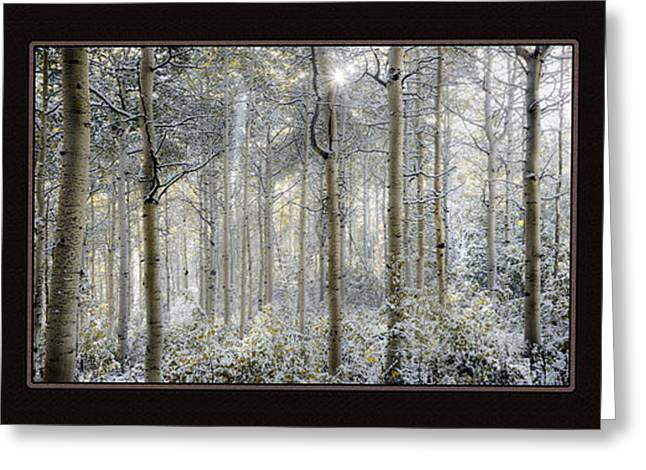 Etheral Forest Triptych Greeting Card by Leland D Howard