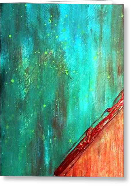 Turquoise And Rust Greeting Cards - Ethereal 567 Greeting Card by Desiree Paquette