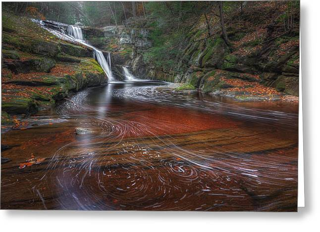 Ethereal Waterfalls Greeting Cards - Ethereal Autumn Greeting Card by Bill  Wakeley