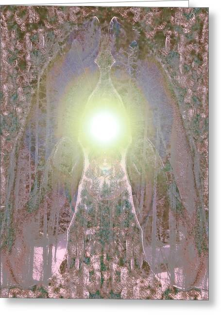 Praying Hands Greeting Cards - Ethereal  Greeting Card by Devalyn Marshall