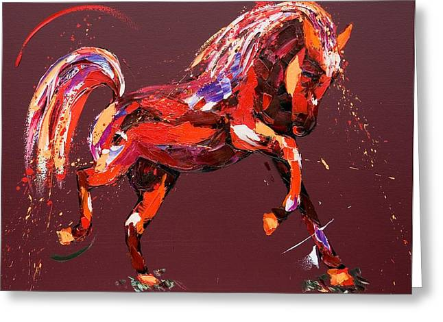 Equestrian Prints Greeting Cards - Ethereal Dream Greeting Card by Penny Warden