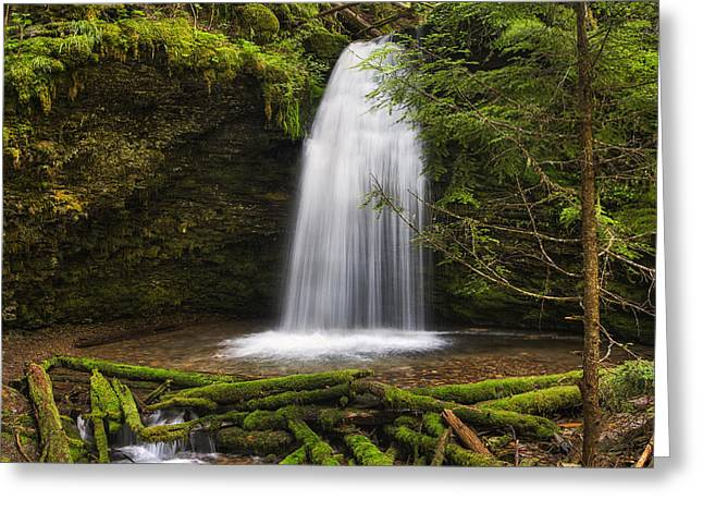 Idaho Photographs Greeting Cards - Ethereal Shadow Falls Greeting Card by Mark Kiver
