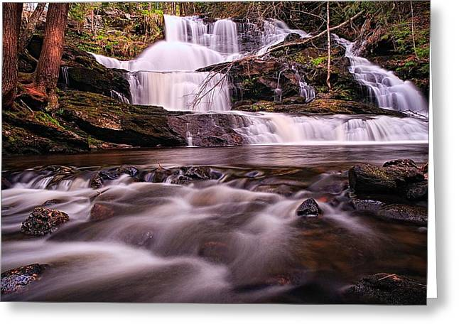 Ethereal Flow Garwin Falls Milford Nh Greeting Card by Jeff Sinon