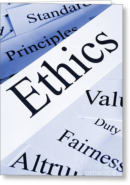Morality Greeting Cards - Ethics Concept Greeting Card by Colin and Linda McKie