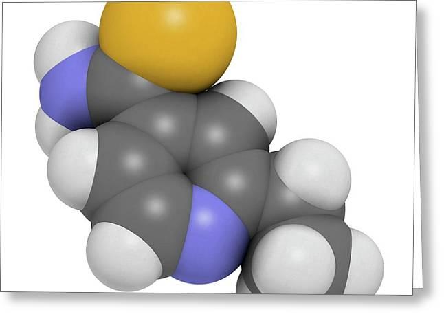 Ethionamide Tuberculosis Drug Molecule Greeting Card by Molekuul