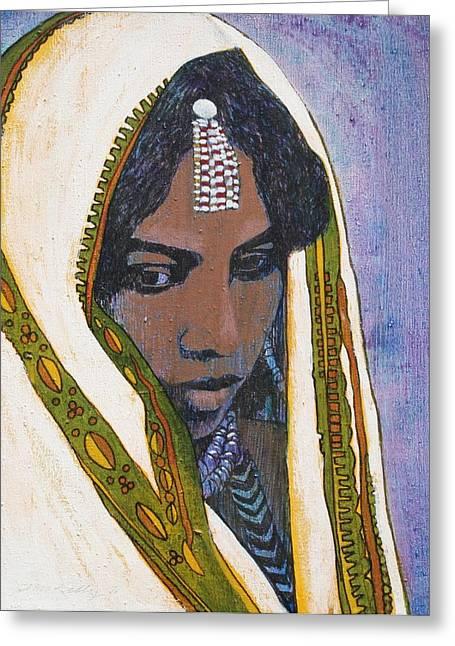 Ethiopian Greeting Cards - Ethiopian Woman Greeting Card by J W Kelly