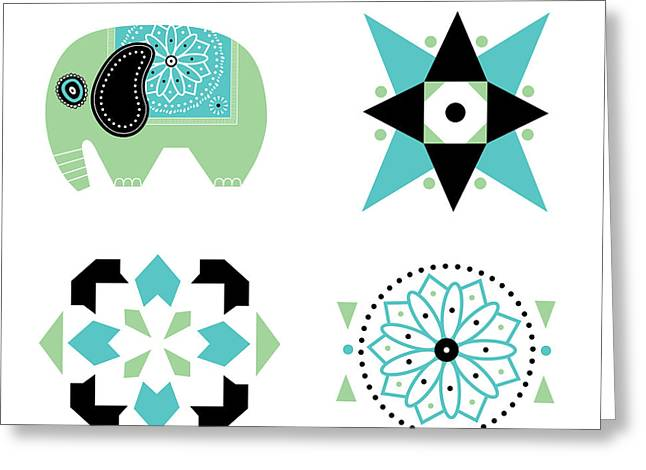 Ethnic Greeting Cards - Ethnic Graphics Greeting Card by Susan Claire
