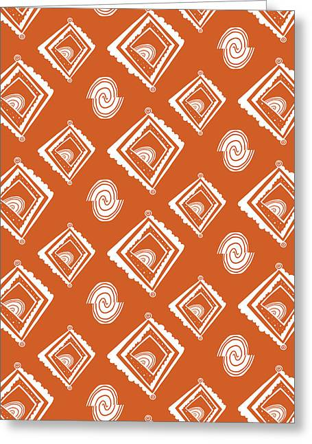 Bold Style Greeting Cards - Ethnic Window Greeting Card by Susan Claire