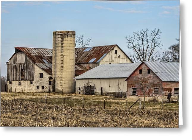 Amish Community Greeting Cards - Ethridge Tennessee Amish Barn Greeting Card by Kathy Clark