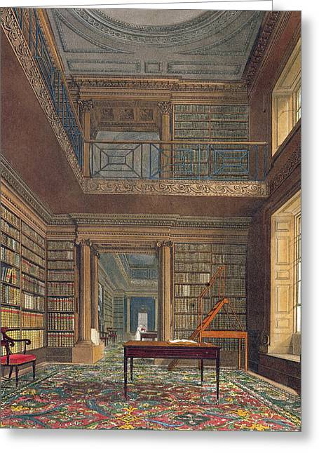 Public Schools Greeting Cards - Eton College Library, From History Greeting Card by Frederick Mackenzie