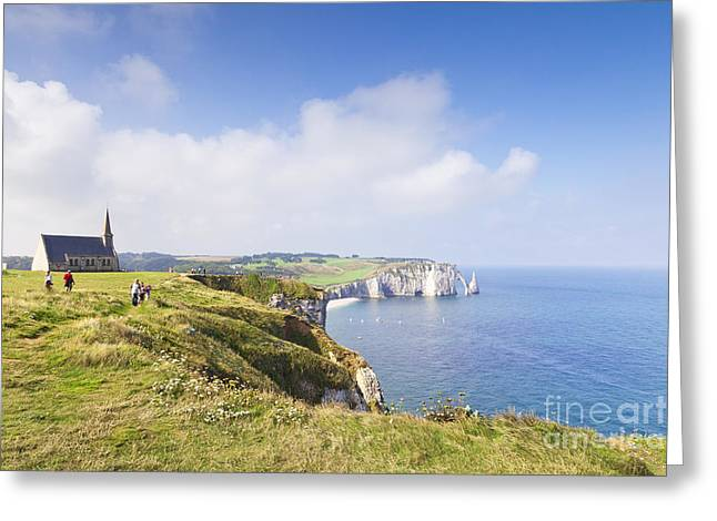 Editorial Photographs Greeting Cards - Etretat Greeting Card by Colin and Linda McKie