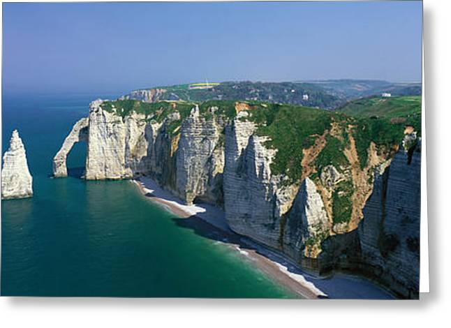 Etretat Greeting Cards - Etretat, Normandy, France Greeting Card by Panoramic Images