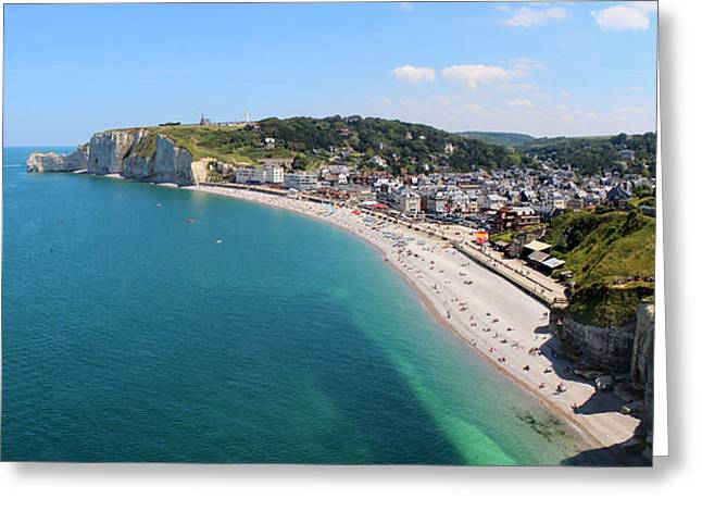 Etretat Normandy Panorama   Greeting Card by Julia Fine Art And Photography