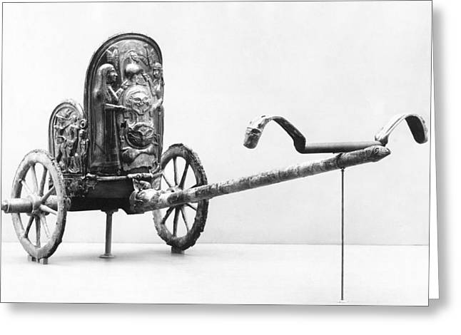New York The Metropolitan Museum Of Art Greeting Cards - Etruscan Chariot Greeting Card by Underwood Archives