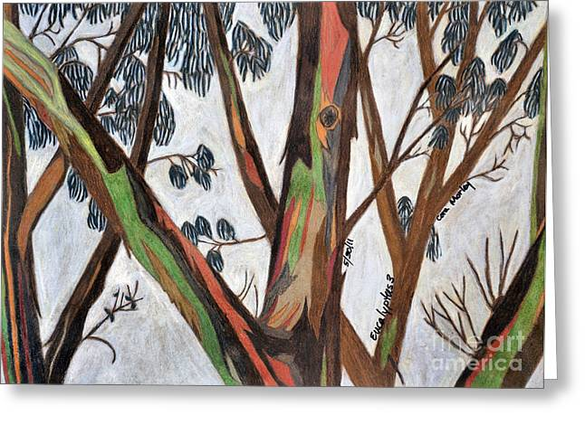 Eucalyptus 3 Greeting Card by Cora Eklund