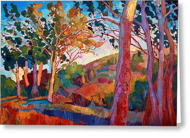 Colorist Greeting Cards - Eucalyptus Grove Greeting Card by Erin Hanson