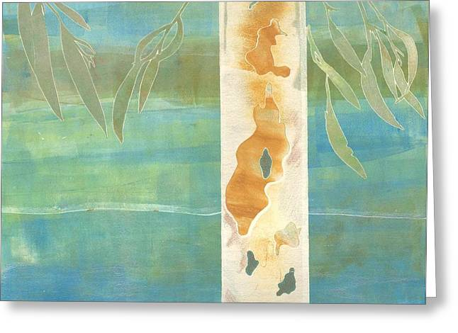 Nature Abstracts Reliefs Greeting Cards - Eucalyptus Greeting Card by Theresa Khong