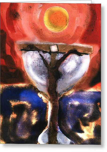 Sacred Religious Art Greeting Cards - Eucharist Greeting Card by Daniel Bonnell