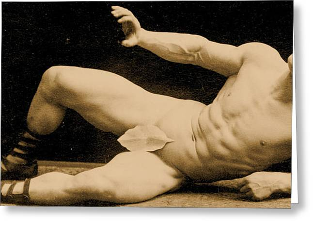 Male Athlete Greeting Cards - Eugen Sandow Greeting Card by Benjamin J Falk