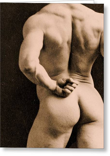Bare Ass Greeting Cards - Eugen Sandow Greeting Card by Napoleon Sarony