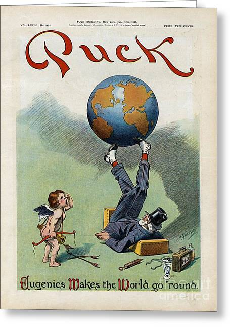 Weeping Greeting Cards - Eugenics Caricature, 1913 Greeting Card by Library Of Congress
