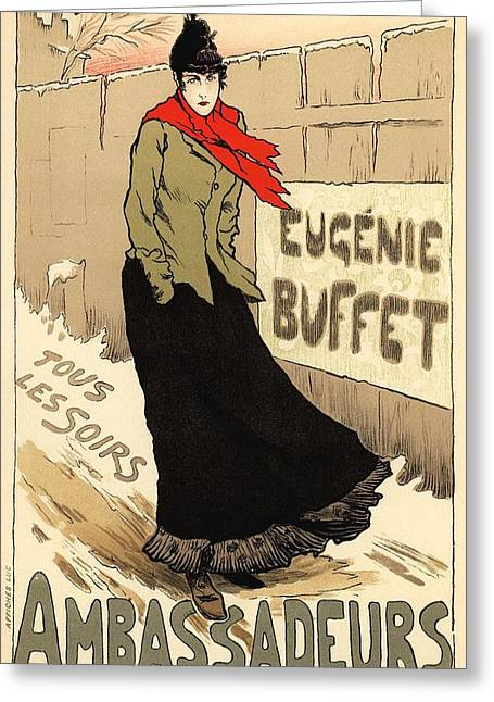 Belle Epoque Greeting Cards - Eugenie Buffet Tous les Soirs Greeting Card by Gianfranco Weiss