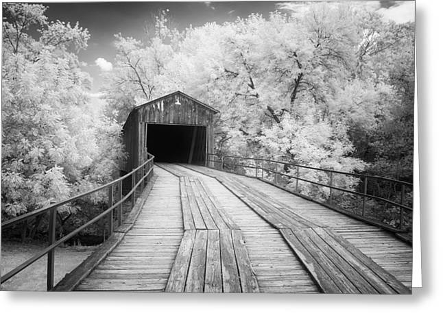Old Roadway Greeting Cards - Euharlee Covered Bridge Greeting Card by Cindy Archbell