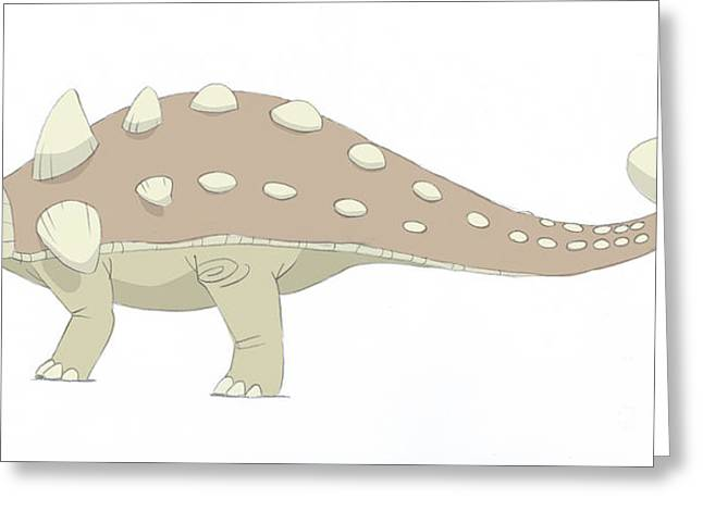 Ankylosaurus Digital Greeting Cards - Euoplocephalus Pencil Drawing Greeting Card by Alice Turner