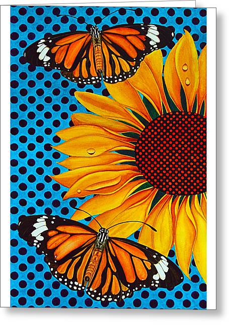 Droplet Paintings Greeting Cards - Euphoria Greeting Card by Janet Pancho Gupta