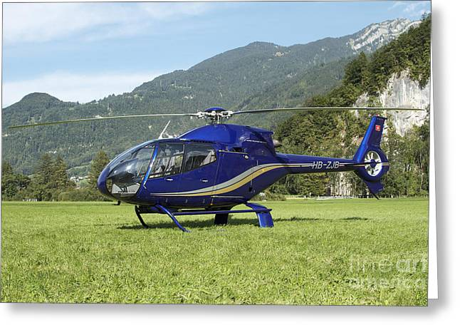 First-class Greeting Cards - Eurocopter Ec130 Light Utility Greeting Card by Luca Nicolotti