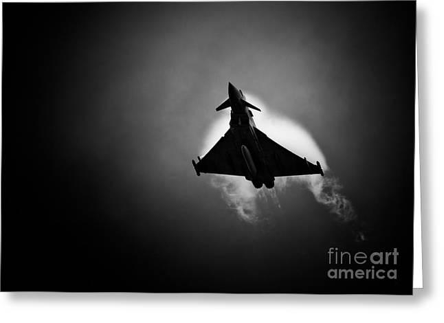 Smoke Trail Greeting Cards - Eurofighter Typhoon Greeting Card by Rastislav Margus