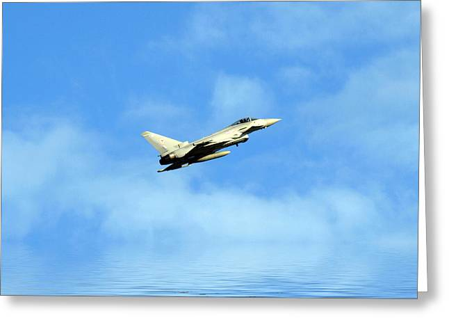 Jet Print Greeting Cards - Eurofighter Typhoon Greeting Card by Sharon Lisa Clarke