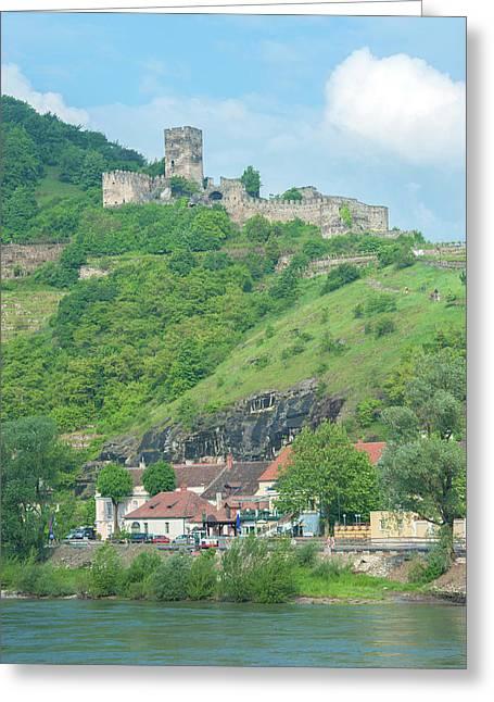 Europe, Austria, Wachau Valley, Danube Greeting Card by Jim Engelbrecht